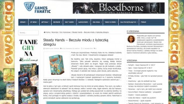 STEADY HANDS recenzja portalu GAME FANATICS